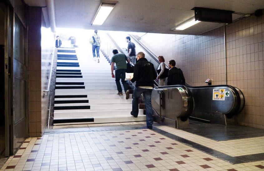 Escaleras de piano experiencia de marketing